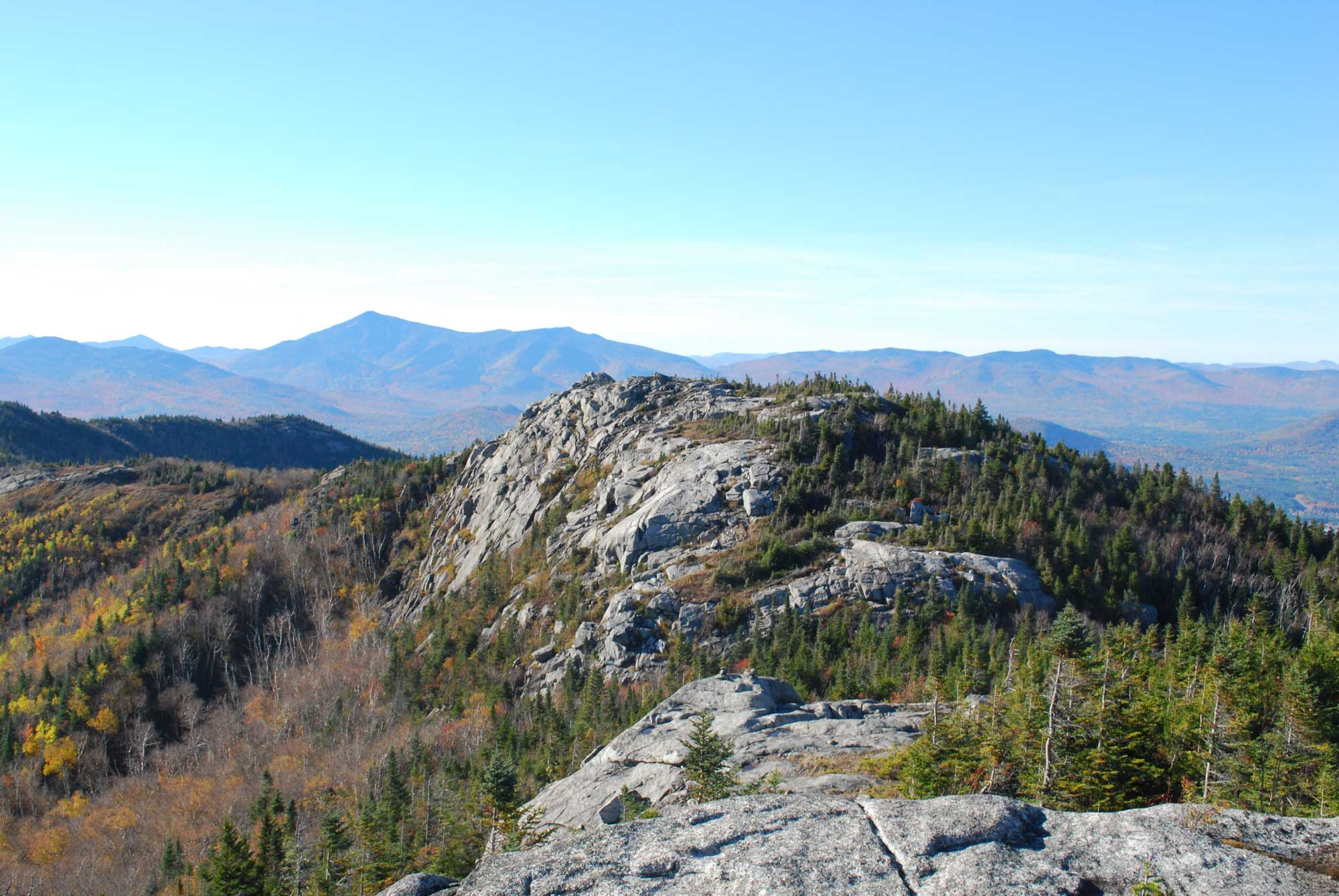 Photograph of a rock outcropping in the Adirondacks.