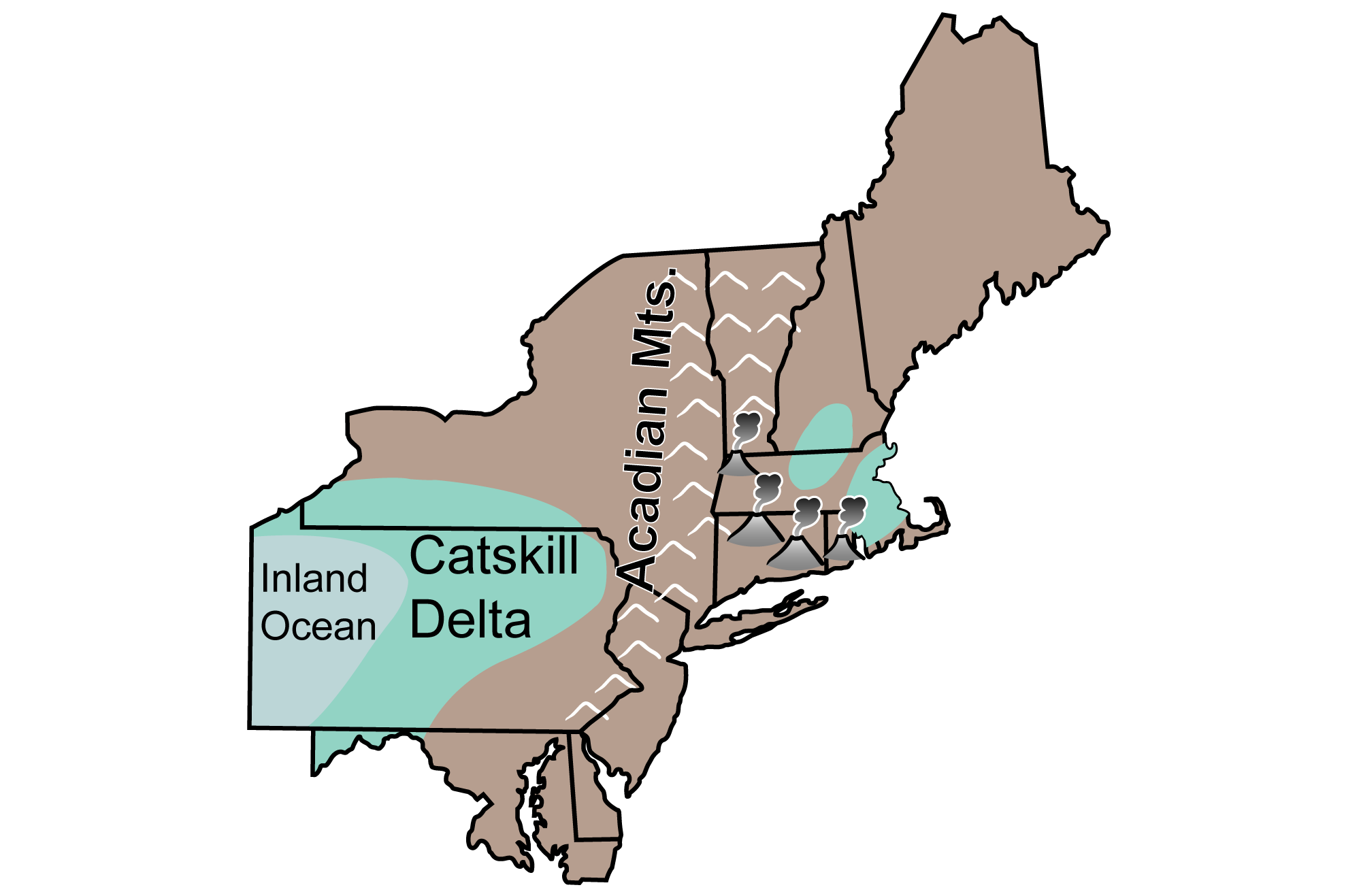 Simple reconstruction of Carboniferous paleogeography in the northeastern U.S.