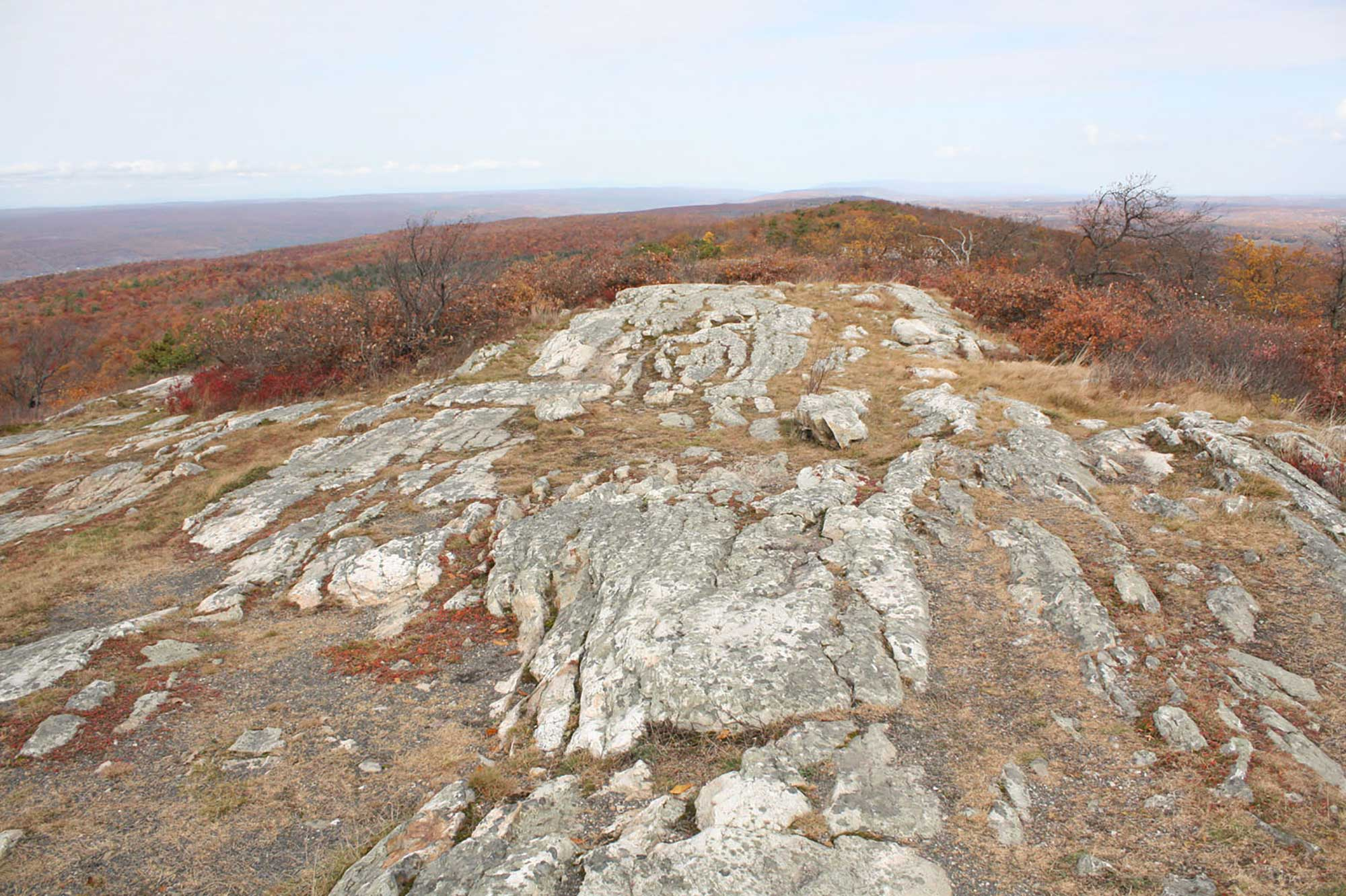 Photograph of an outcropping of the Silurian Shawangunk Formation.