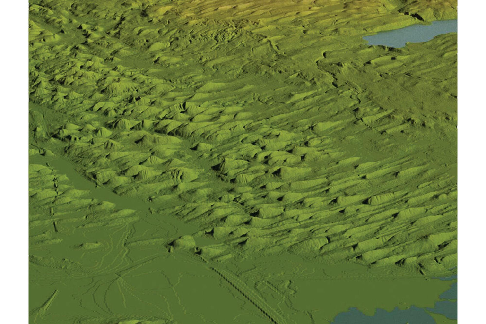 Image showing a drumlin field near Auburn, New York.
