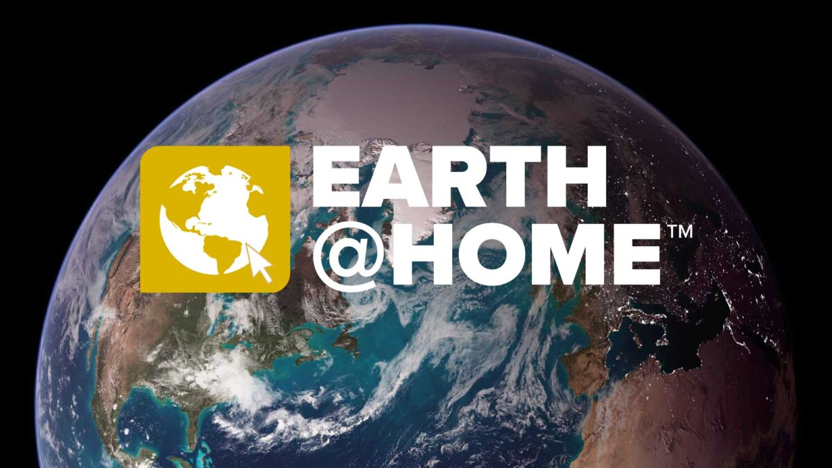 Earth@Home logo above image of the Earth.