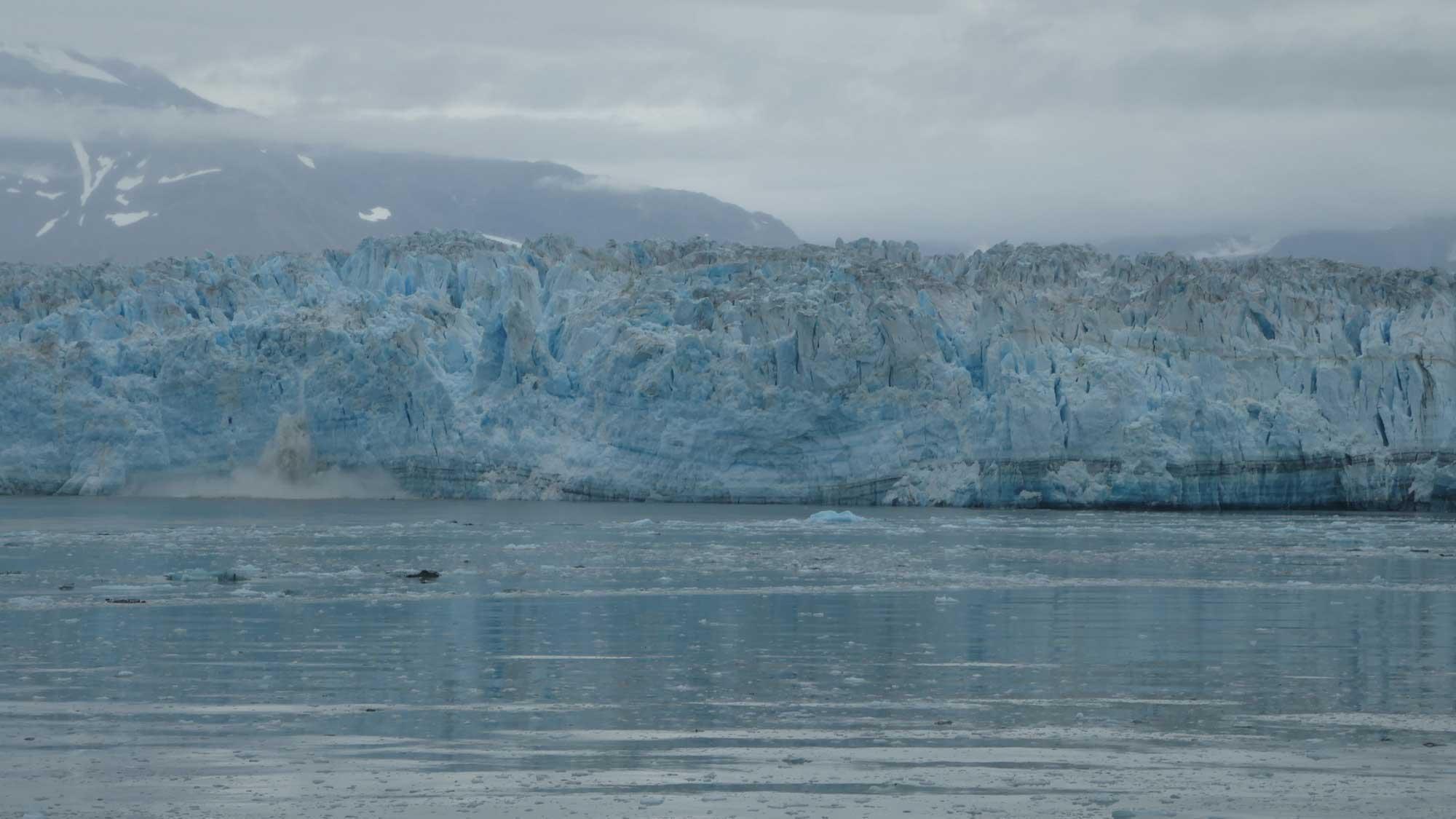 Photograph of Hubbard Glacier in Alaska.