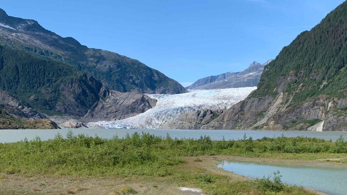 Photograph of Mendenhall Glacier, Alaska.