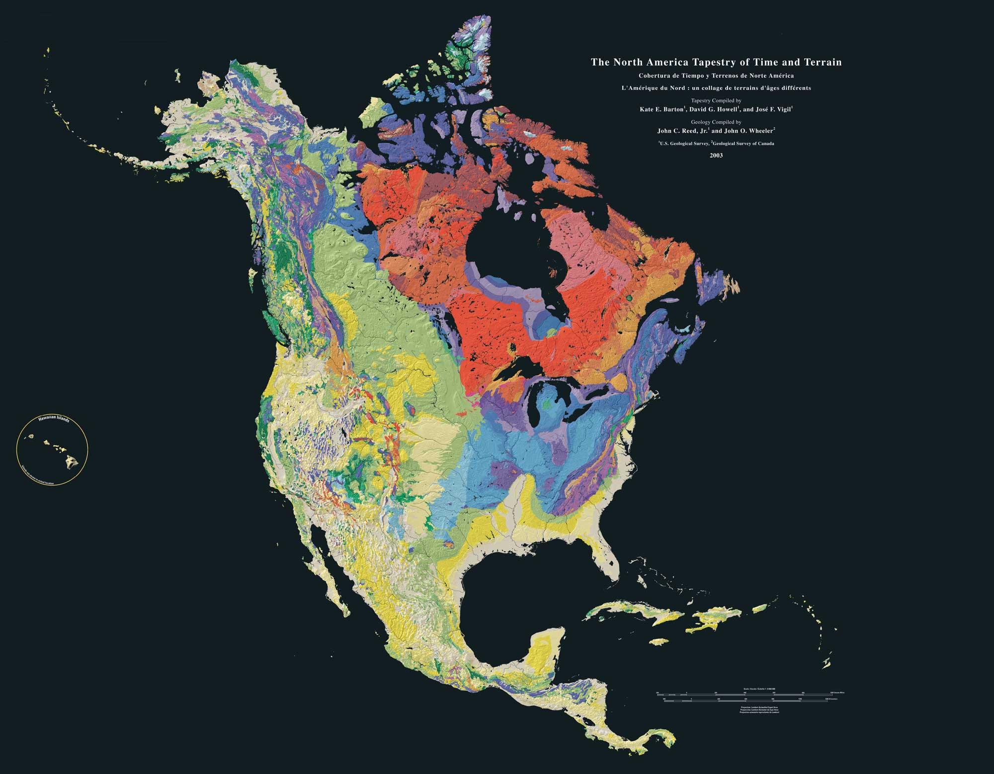 Geologic map of North America.