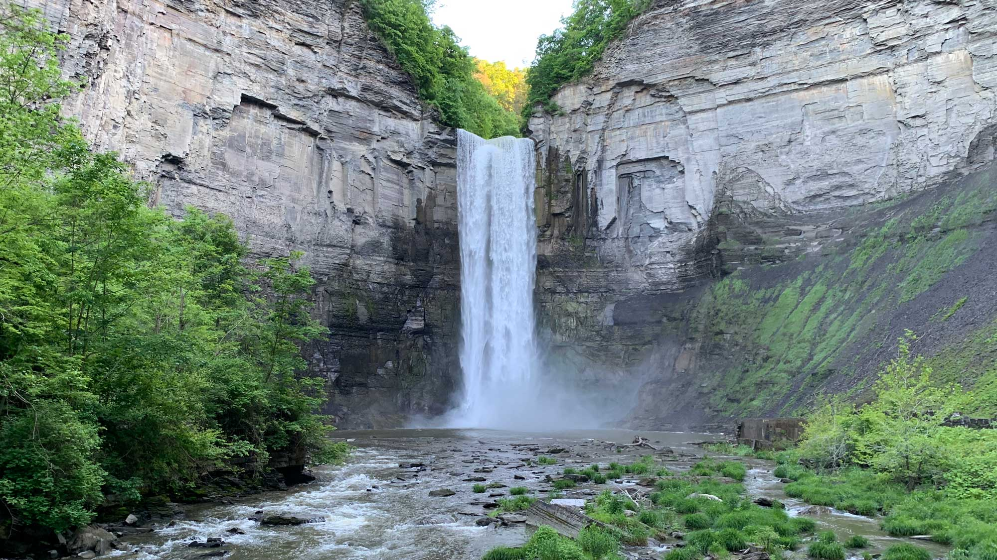 Photograph of Taughannock Falls in Tompkins County, New York.