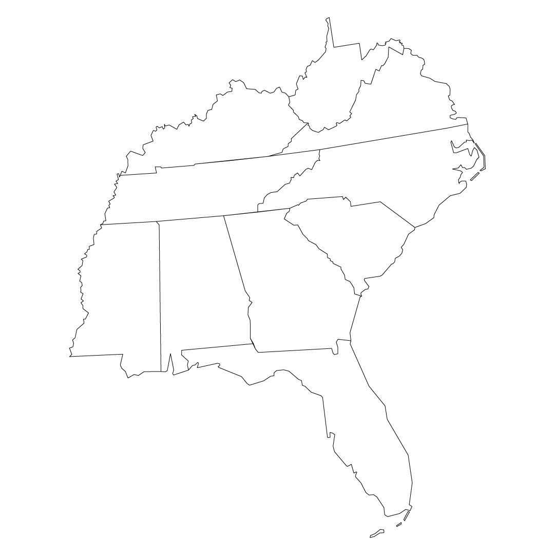 Map showing the states of the northeastern U.S.