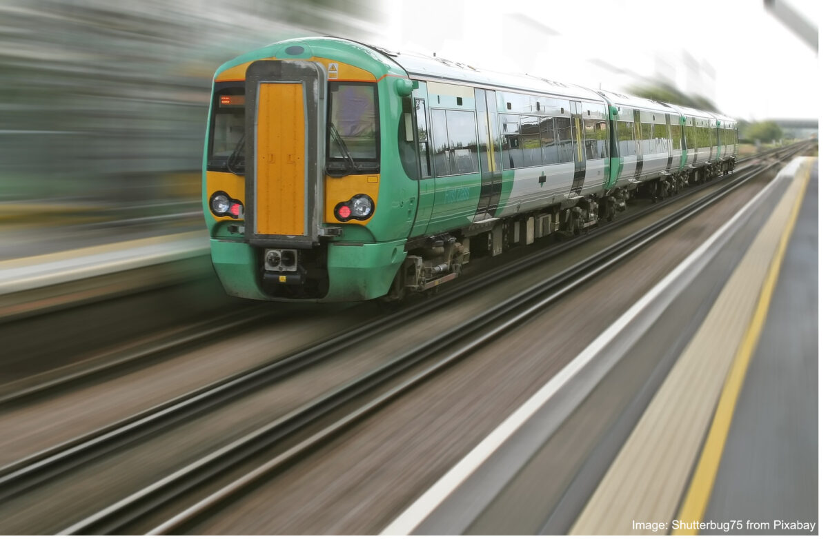 Picture of a fast-moving train
